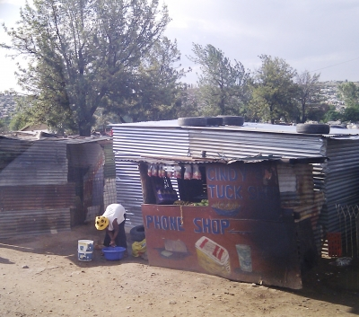 Informal development on the edge of Johannesburg